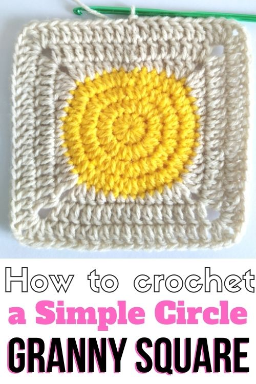 How to Crochet a Simple Circle Granny Square - Free Crochet Pattern