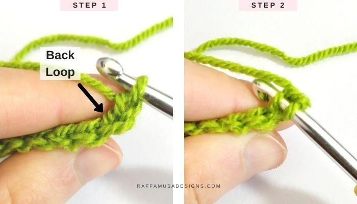 Back Loop Only Crochet - Tutorial - Raffamusa Designs