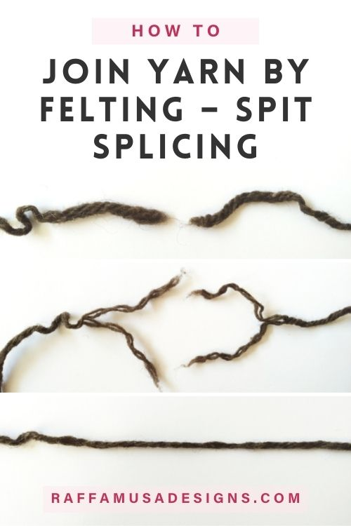 How to Join Yarn Ends by Felting - Spit Splicing Tutorial - Raffamusa Designs