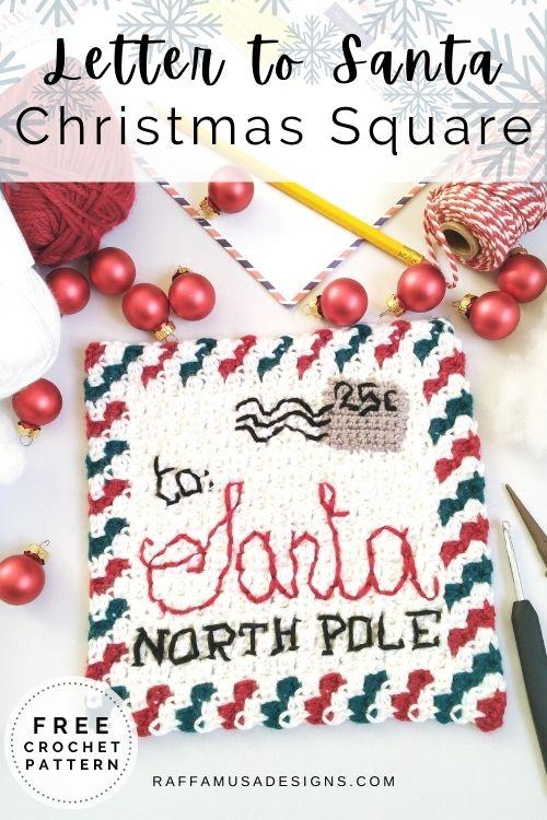 Letter to Santa Mini-C2C Crochet Square Pattern