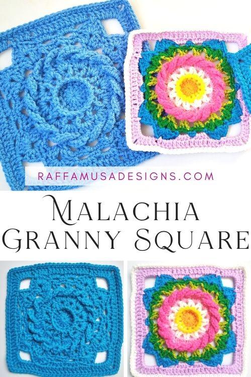 Malachia Granny Square - Free Crochet Pattern - Raffamusa Designs