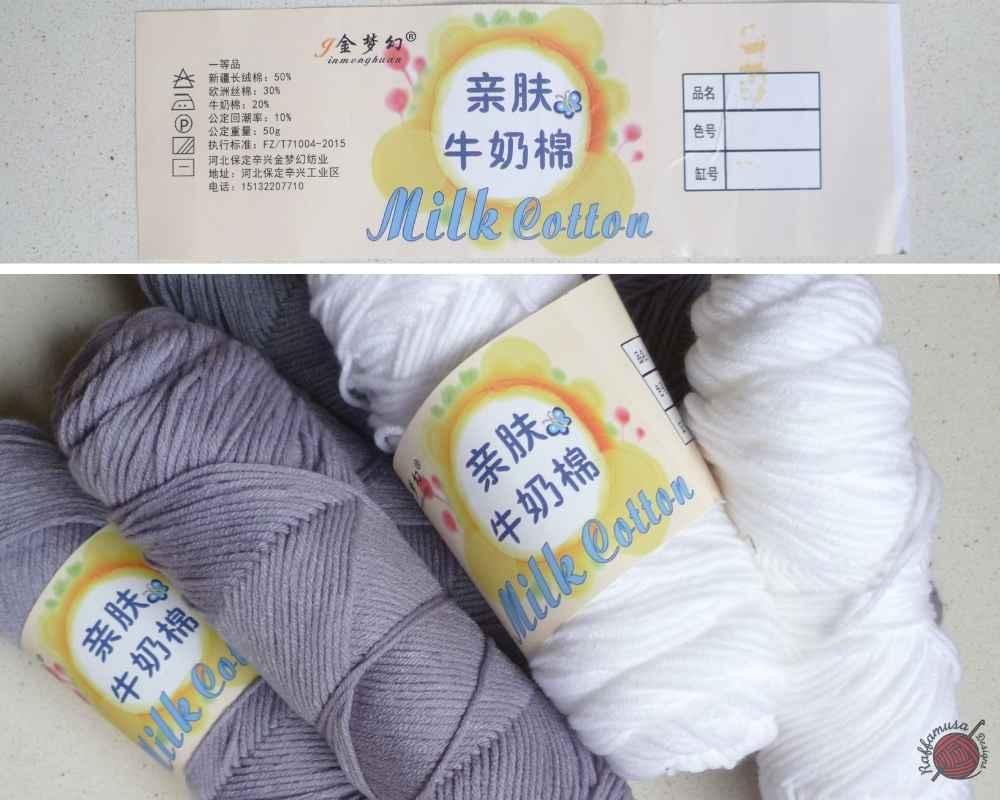 What is Milk Cotton Yarn? by RaffamusaDesigns