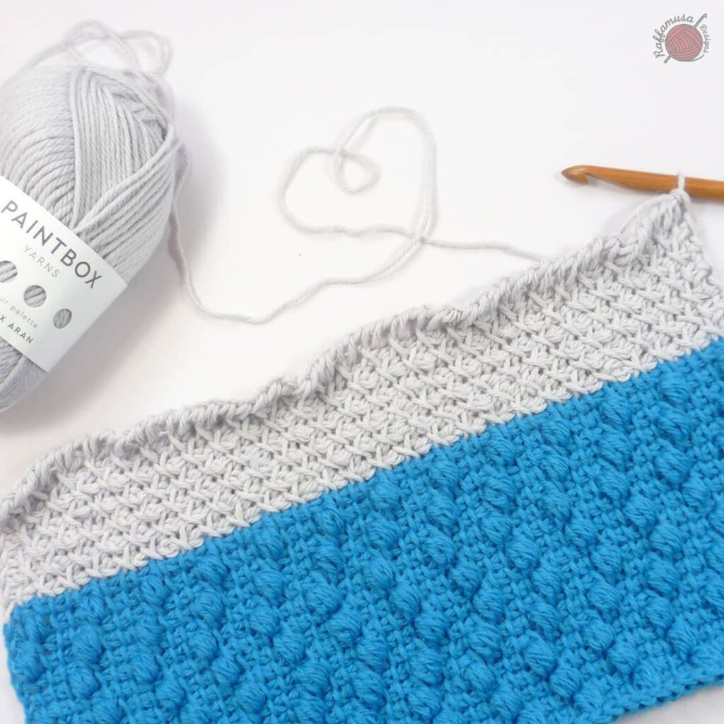 Tunisian Crochet Poncho - Work in Progress