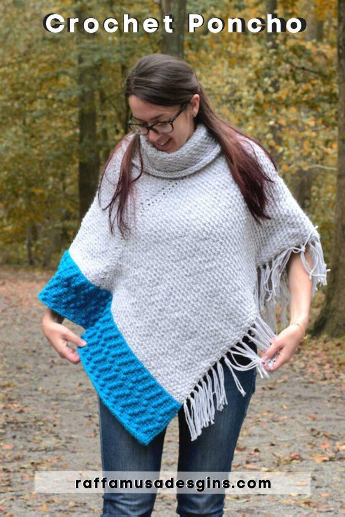 Free Crochet Pattern - Tunisian Crochet Poncho