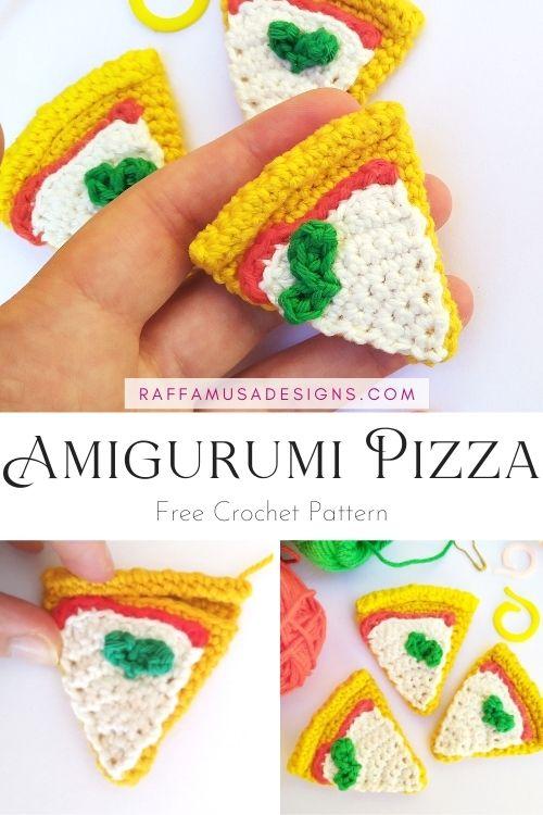 Pizza Slice Amigurumi - Free Crochet Pattern - Raffamusa Designs