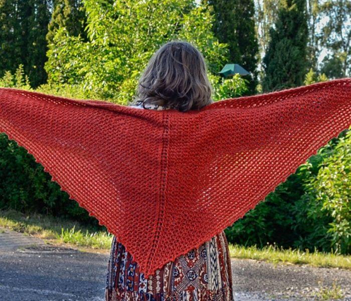 Tunisian Crochet Porphyry Shawl by Yarn Andy