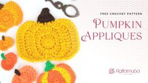 Crochet Pumpkin Applique - Free Pattern - Raffamusa Designs