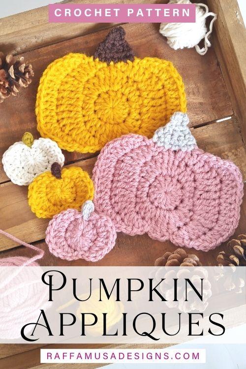 Pumpkin Appliques - Free Crochet Pattern - Raffamusa Designs