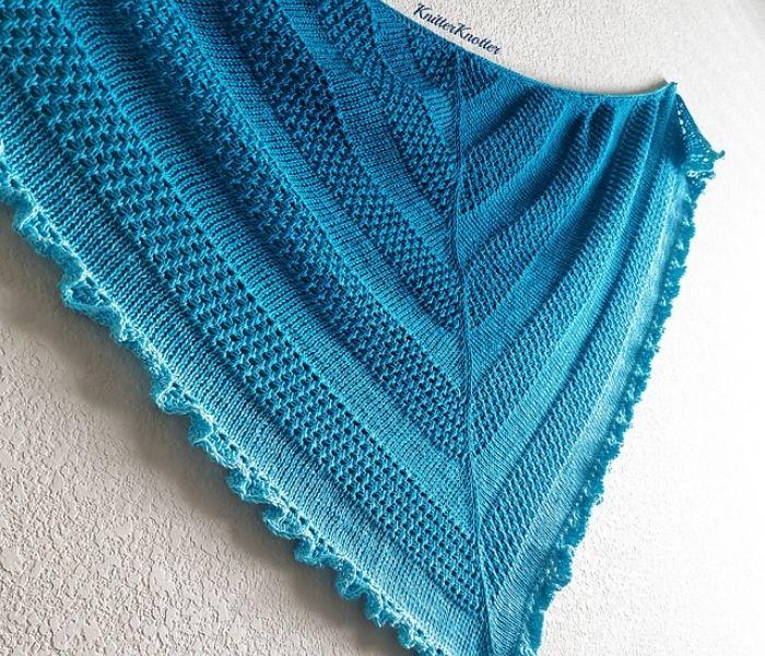 Tunisian Crochet Ruffled Waters Shawl by Knitter Knotter