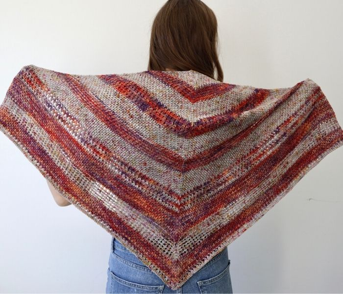 Sienna Harvest Berry Shawl by Exquisite Crochet Uk