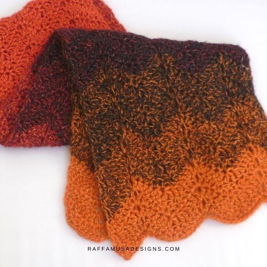 Simple Ripple Scarf - Free Crochet Pattern - Raffamusa Designs