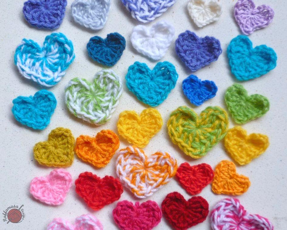 Small Heart Applique Free Crochet Pattern