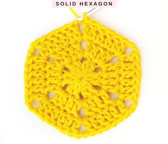 Crochet Solid Hexagon - Free Pattern and Tutorial - Round 3 - Raffamusa Designs