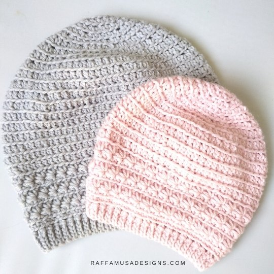 Crochet Star Stitch Beanie - Free Crochet Pattern in Sizes toddler, child, adult small, and adult medium