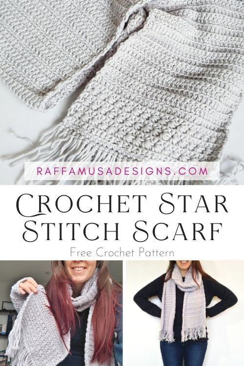 Star Stitch Scarf - Free Crochet Pattern - Raffamusa Designs