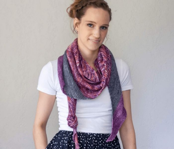 Stauffer Tunisian Crochet Shawl by Kt and the Squid