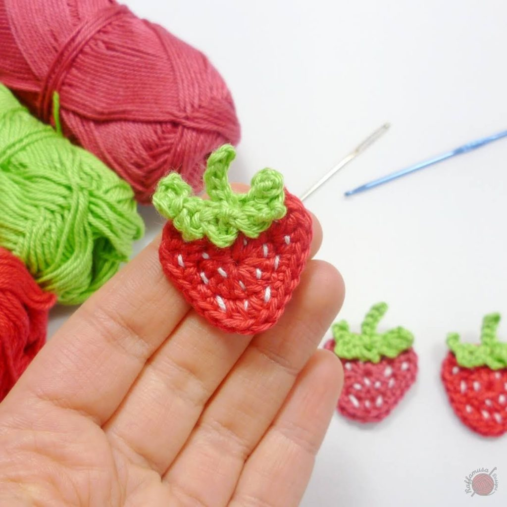 Strawberry Crochet Applique