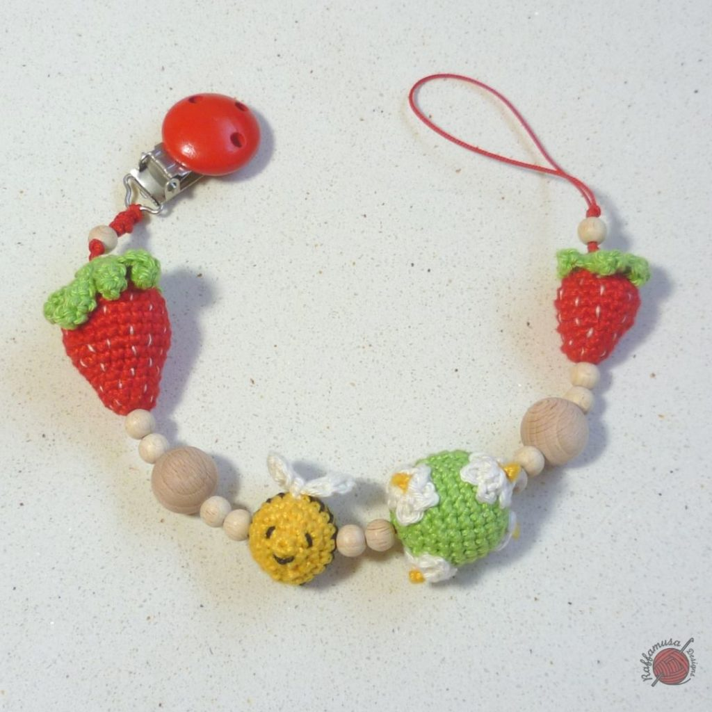 Strawberry Pacifier Clip