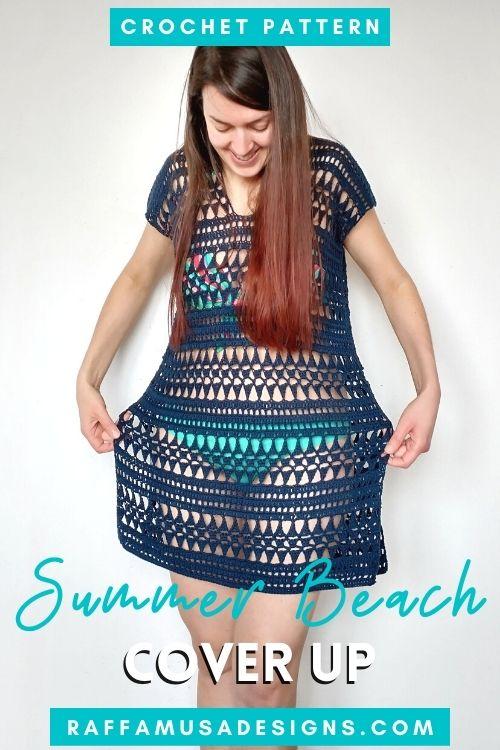 Summer Beach Cover Up Dress - Free Crochet Pattern - Raffamusa Designs
