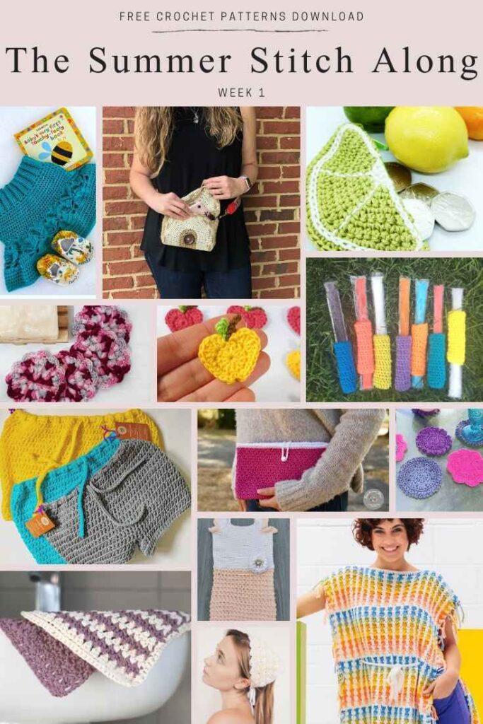 Summer Crochet Stitch Along - Free Summer Crochet Patterns Roundup