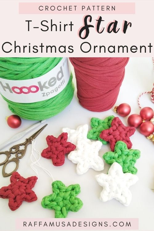 Pin the free crochet pattern of the Crochet Star Christmas Ornament to your favorite Festive board
