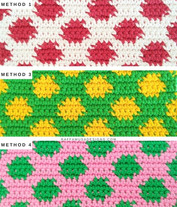 Tapestry Crochet Tutorial - How to Invisible Change on the Wrong Side - Raffamusa Designs