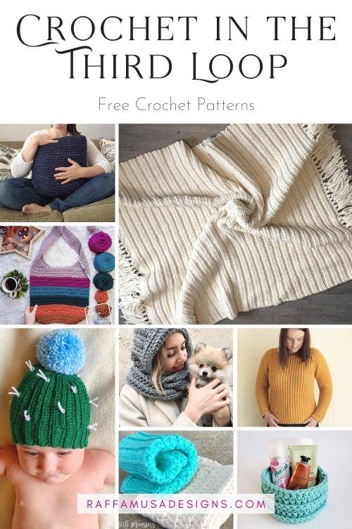 Textured Crochet Patterns Worked in the Third Loop - Free Patterns Roundup - Raffamusa Designs