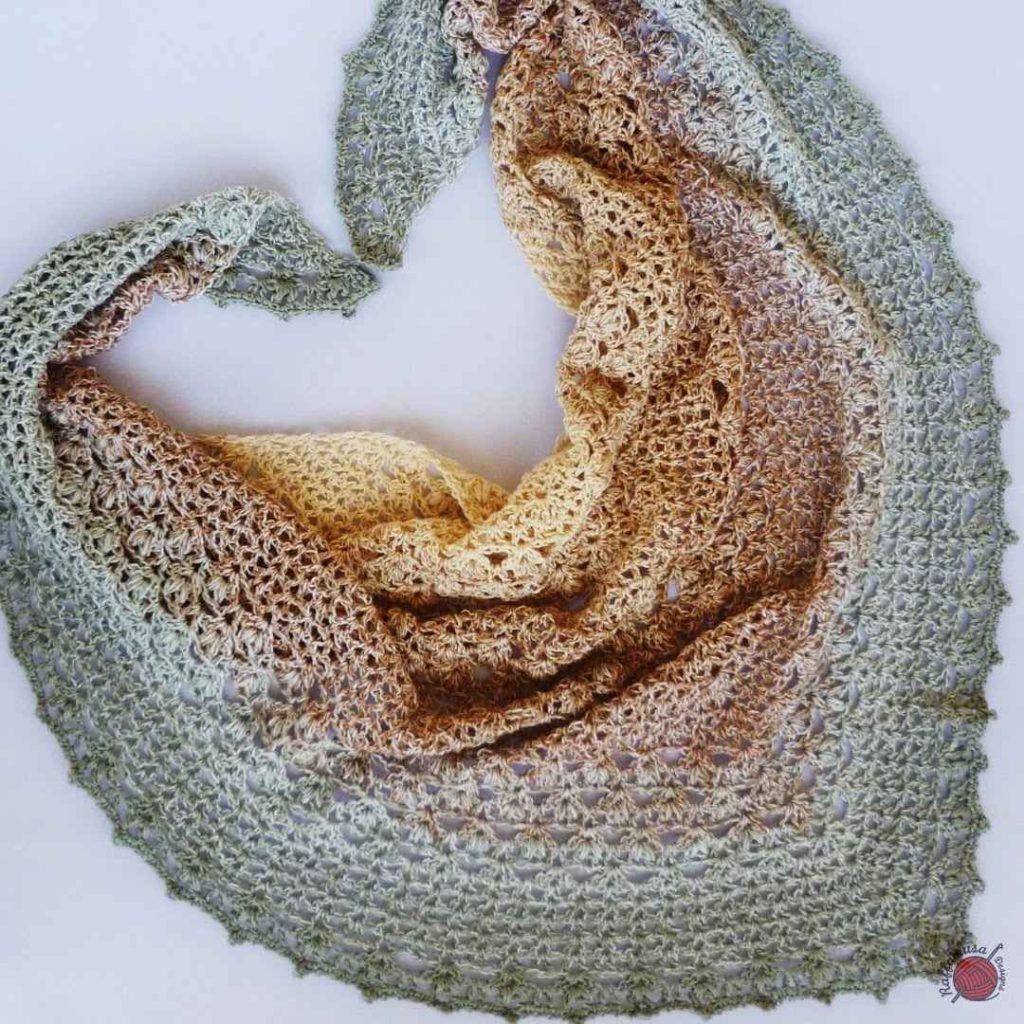 The Proserpina V-Stitch Crochet Shawl