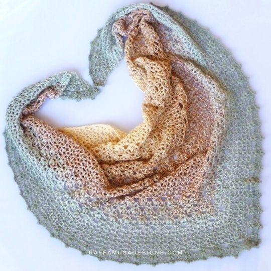 The Proserpina V-Stitch Shawl - Free Crochet Pattern - Raffamusa Designs