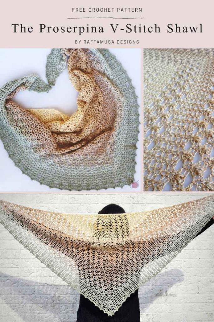 The Proserpina V-Stitch Shawl - Free Crochet Pattern