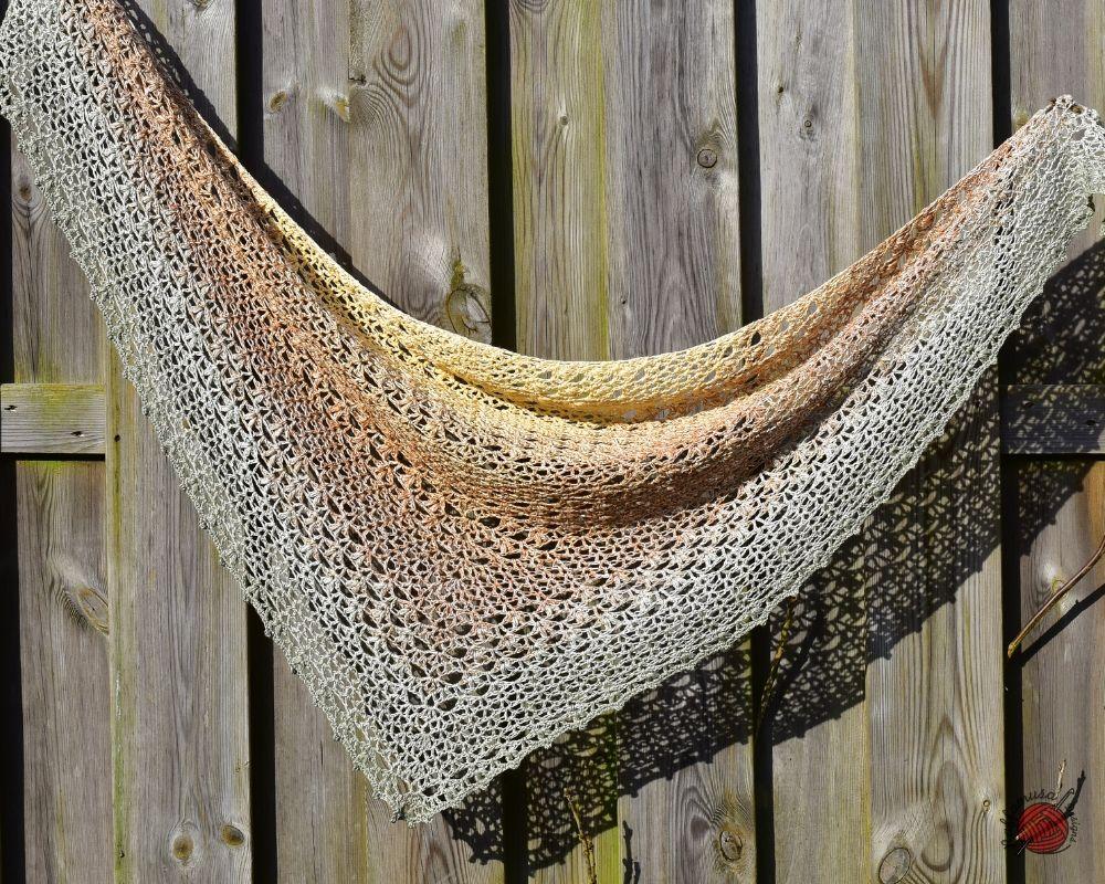 The Proserpina V-Stitch Crochet Shawl - Free Pattern by RaffamusaDesigns