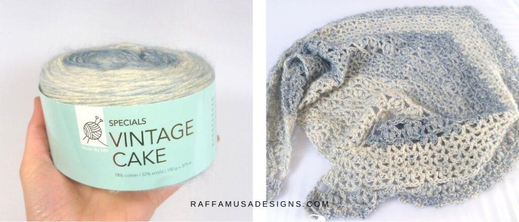 Yarn Substitution for the V-Stitch Proserpina Shawl - Raffamusa Designs
