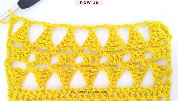 Lace Stitch - Row 10 - Raffamusa Designs