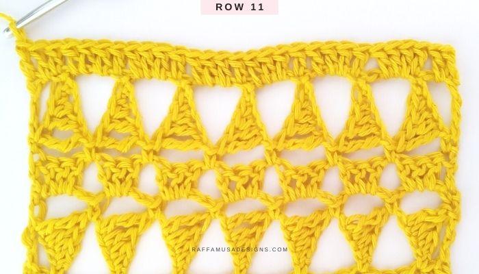 Lace Stitch - Row 11 - Raffamusa Designs