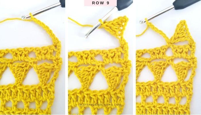 Lace Stitch - Row 9 - Raffamusa Designs