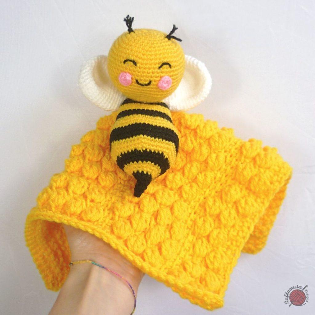 Tunisian Crochet Beehive Baby Lovey