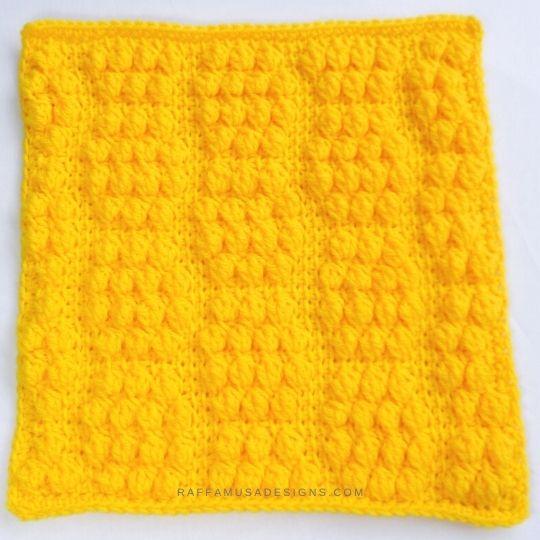 Tunisian Crochet Beehive Lovey - Free Crochet Pattern - Raffamusa Designs