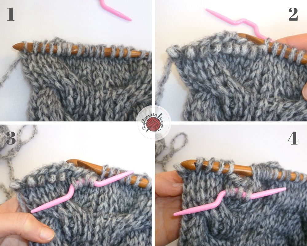 Tunisian crochet left-leaning cable, part 1