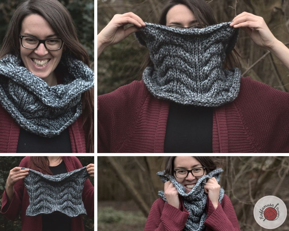 Tunisian Crochet Concept Cowl - Free Pattern by RaffamusaDesigns