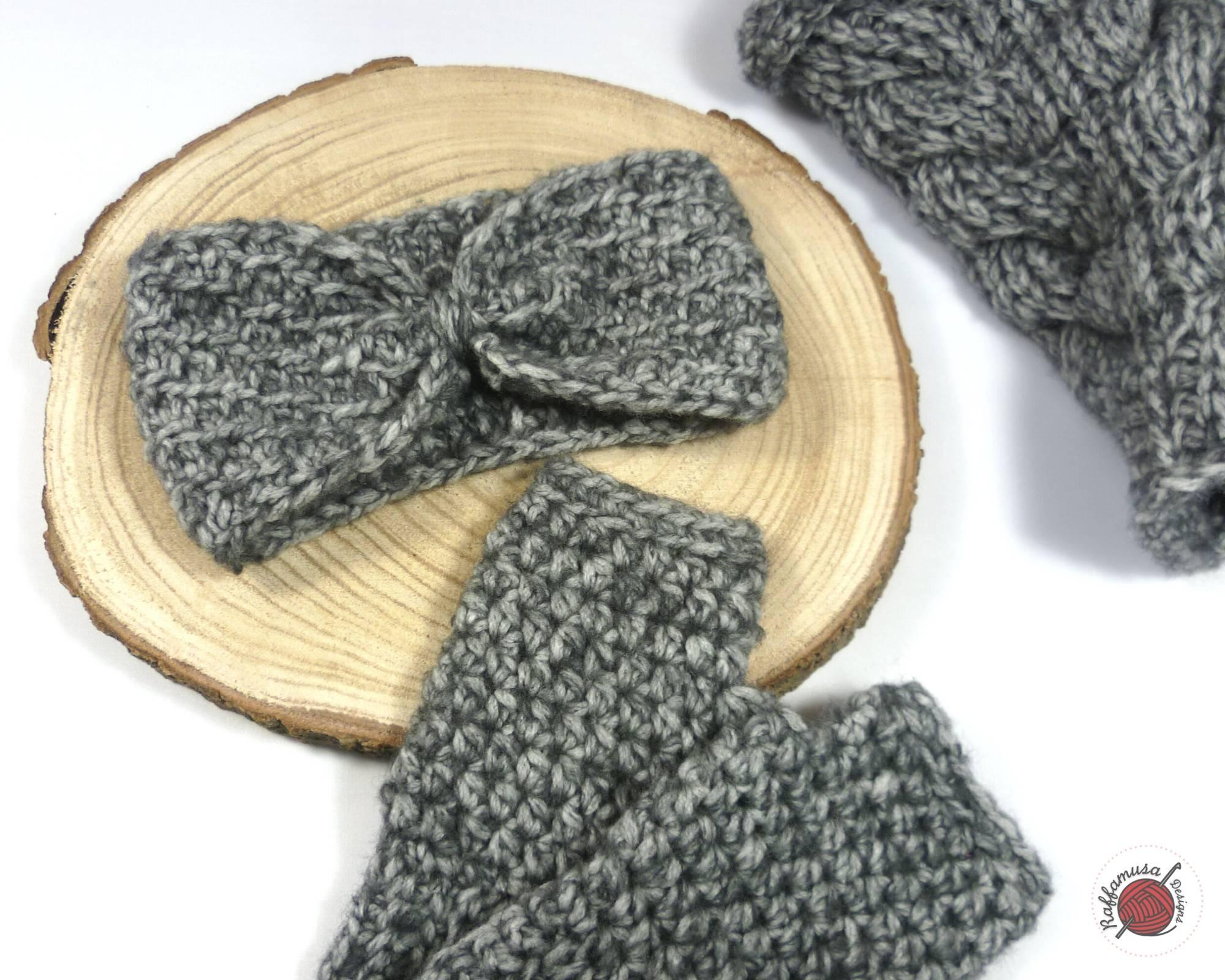 Tunisian Crochet Concept Headband - Free Pattern by RaffamusaDesigns