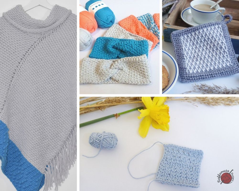 Tunisian Crochet Cross stitch - free tutorial by RaffamusaDesigns