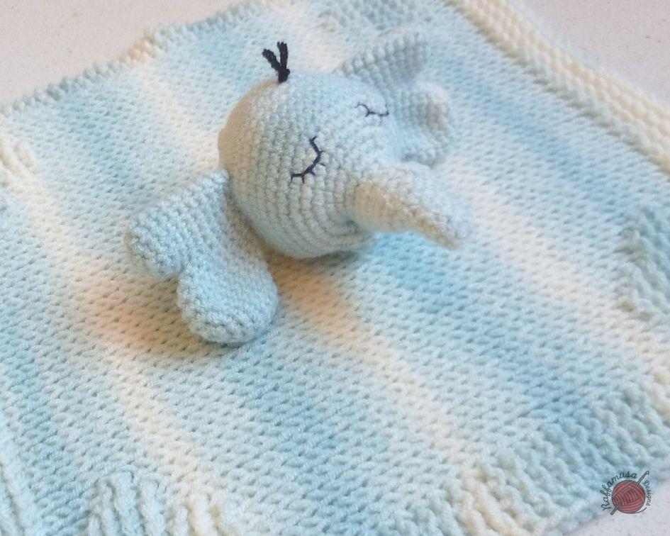 Tunisian Crochet Elephant Baby Lovely