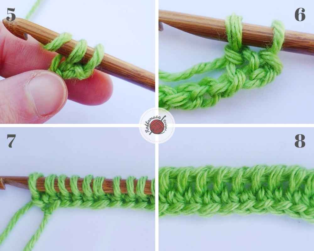 How to crochet the Tunisian Extended Foundation row, part 2