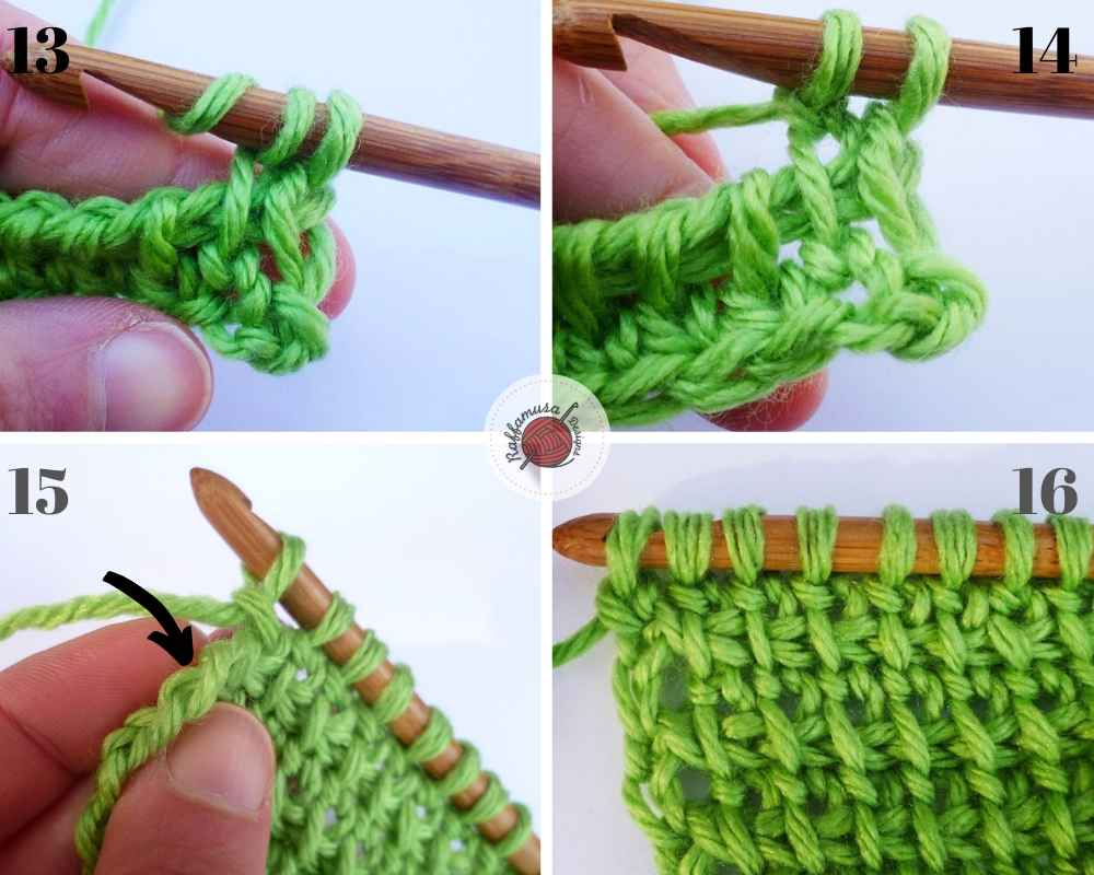 How to crochet the Tunisian Extended stitch, part 2