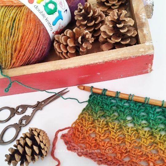 Tunisian Crochet Trellis Lace Stitch - wip - Raffamusa Designs