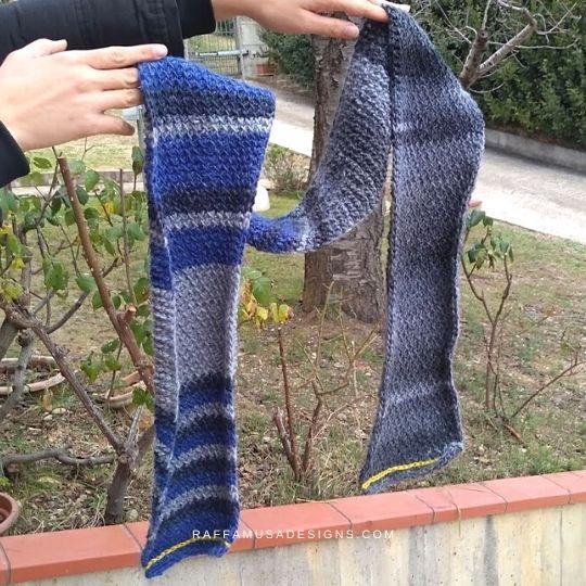 Tunisian Crochet Man Scarf - Free - Raffamusa Designs