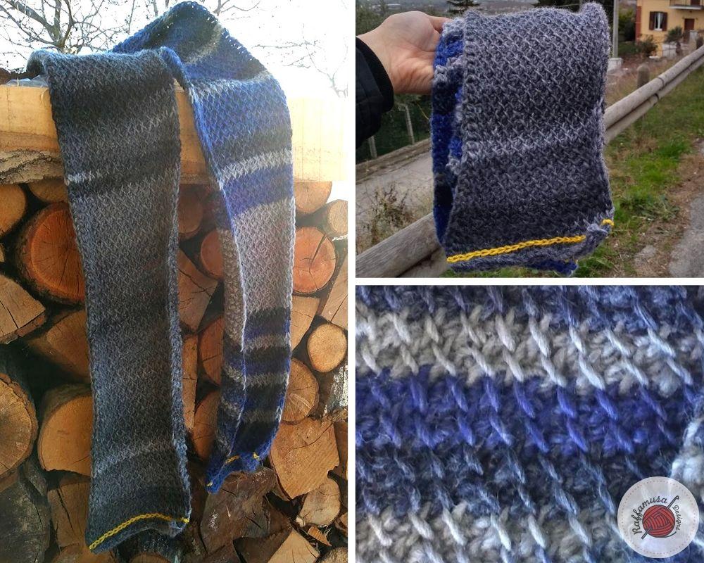 Tunisian Crochet Man Scarf - Free Pattern by RaffamusaDesigns