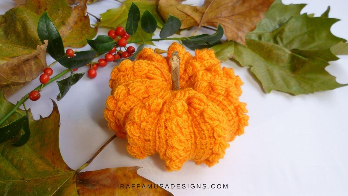 Tunisian Crochet Puffy Pumpkin - Free Patterns and Tutorial - Raffamusa Designs