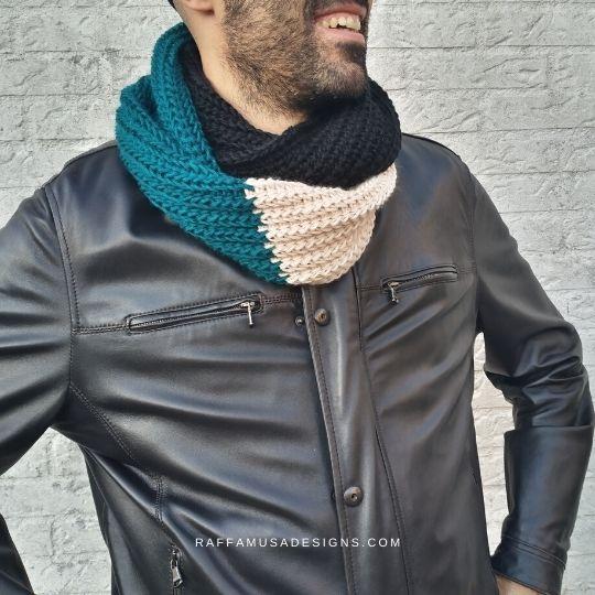 Tunisian Crochet Double Wrap Scarf - Raffamusa Designs
