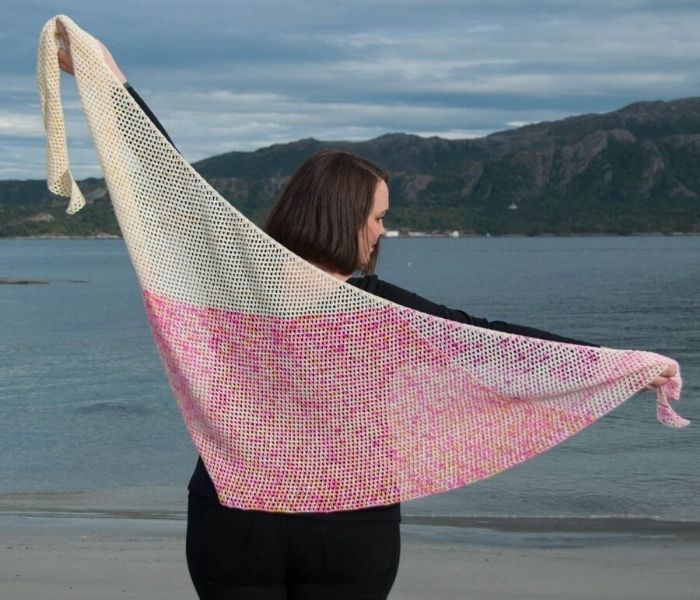 Tunisian Crochet Shawl by Joy of Motion Crochet